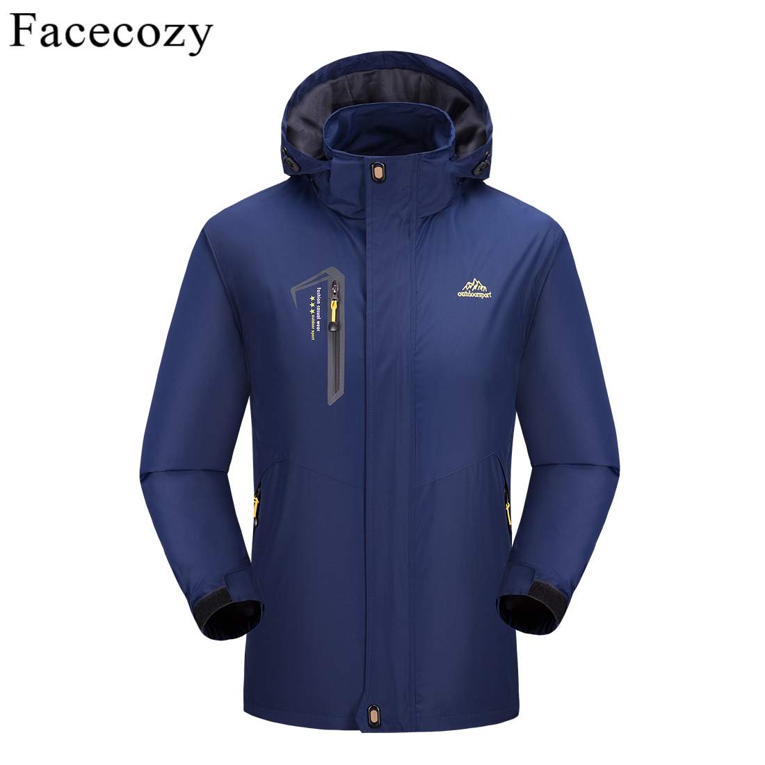 Facecozy 2019 Spring Summer Men Softshell Fishing Jackets Male Outdoor Single Layer Hiking Fishing Clothing For Climbing Camping