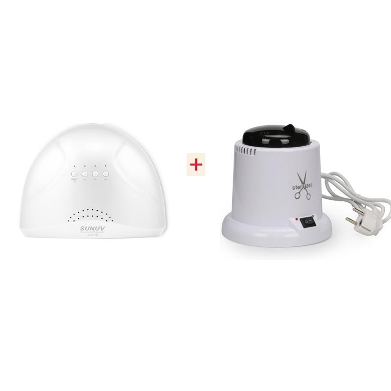 SUNone 48W/24W Sensor Nail Dryer led lamp uv Lamp Nail LED UV Dryer Gel Nail Polish Dryer With Nail Sterilizer &Disinfection Box nail dryer