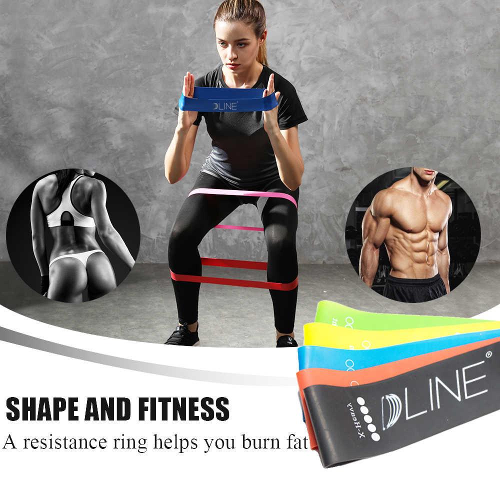 Komplet taśm oporowych 5 poziomów elastyczne lateksowe na siłownię treningu siłowego guma joga pętle zespoły Workout sprzęt fitness do crossfitu