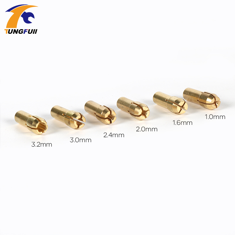 6 Pieces Mini Drill Brass Collet Chuck for Dremel Rotary Tool Including dremel accessories 1.0/1.6//2.0/2.4/3.0/3.2mm 13pcs set brass collet chuck for dremel rotary tool with an a550 shield and dedicated locator horn dremel accessories