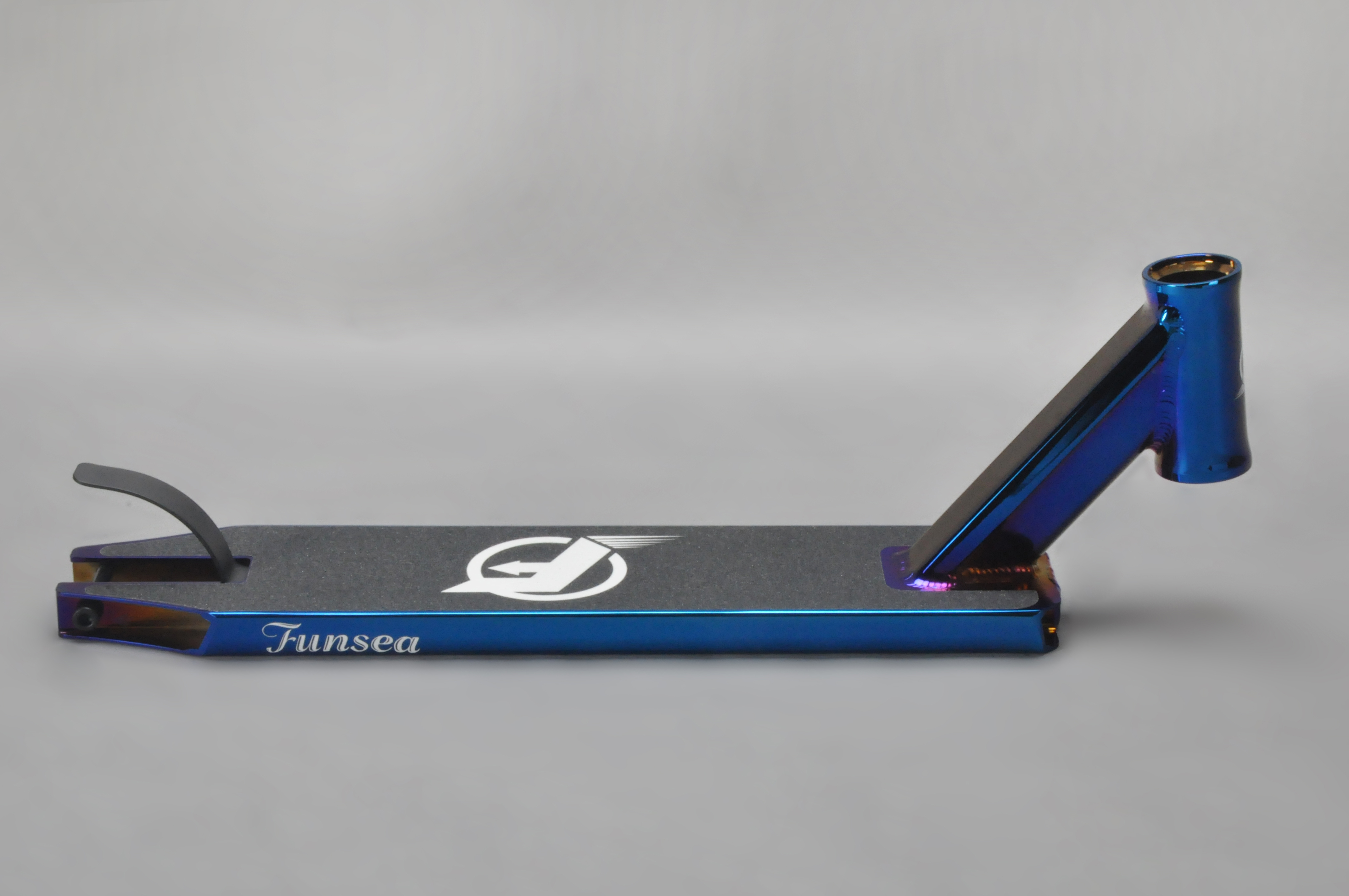 PVD Purple Professional OEM ODM Alloy 6061 Stunt Scooter Deck For 100/110/120mm Rear Wheel