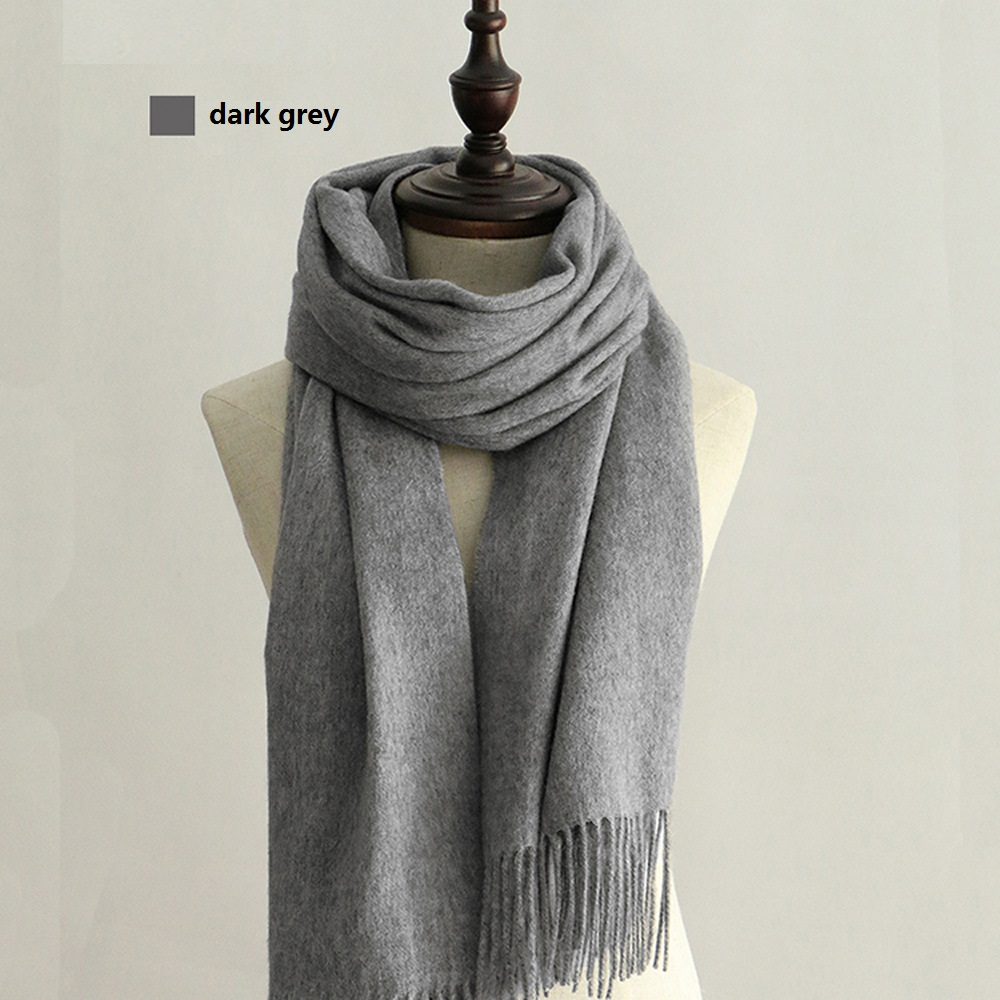 100% Wool Scarf Solid Unisex scarves for womens
