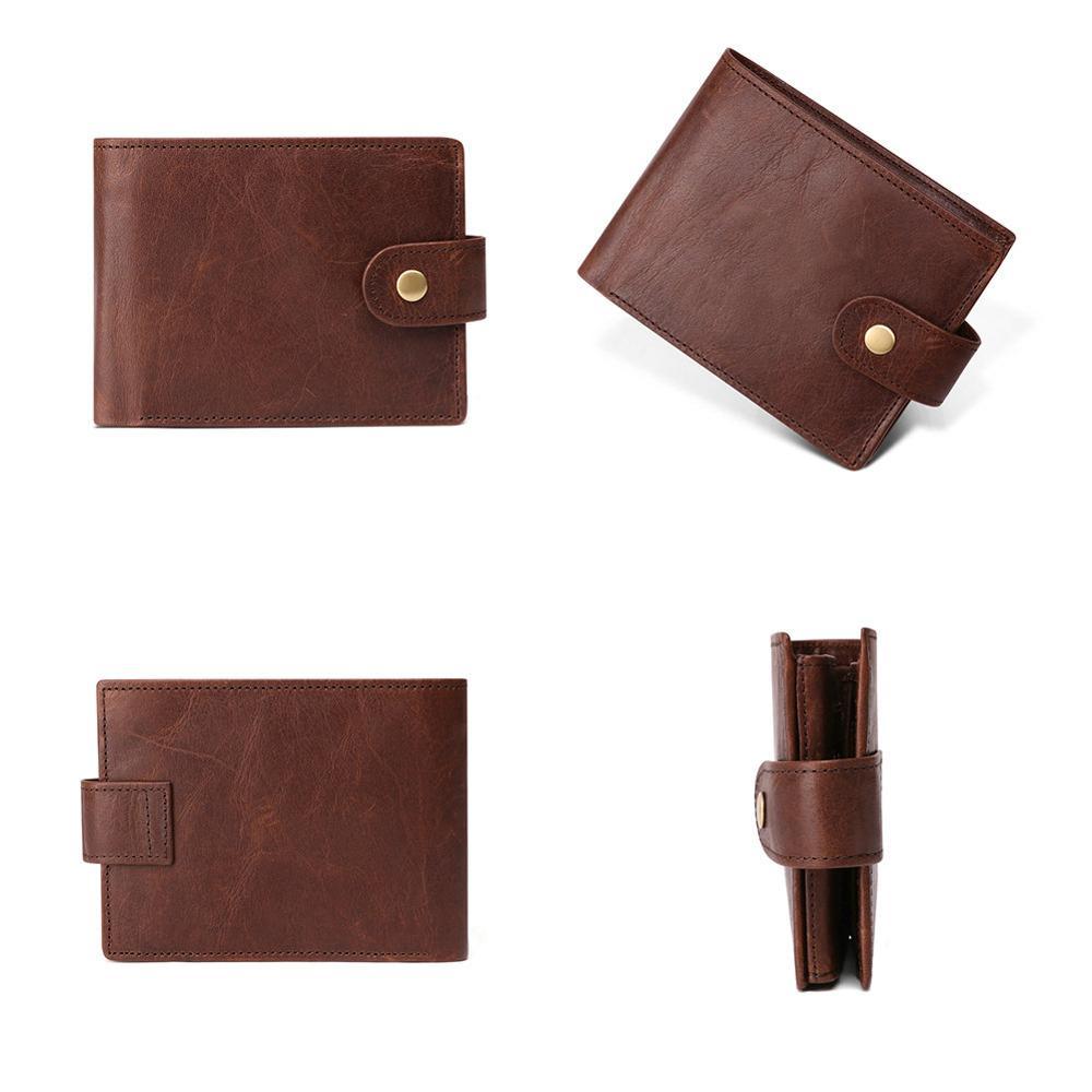 Image 2 - GENODERN New Arrival Vintage RFID Men Wallets Hasp Functional Trifold Wallet for Men Large Capacity Male PurseWallets   -