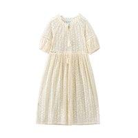 B S91 New Fashion Spring Girls Casual Dresses Summer Half Sleeve Princess Dress 5 14T Teenager