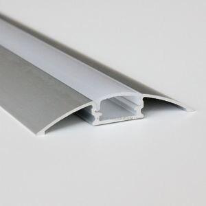 5 м (10 шт.) партия, 0,5 м за штуку, анодированная диффузная крышка, Светодиодная лента, алюминиевый профиль AP5208
