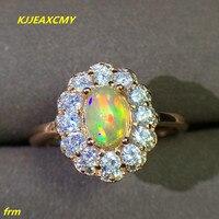 KJJEAXCMY כסף סטרלינג 925 תכשיטים עם סיטונאי נשי טבעת אופל טבעי