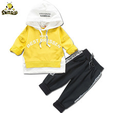 SONDR Kids clothes Letter tracksuit for boys hooded coat Sports Suit childrens Infant girls boutique outfits 123 4 Years