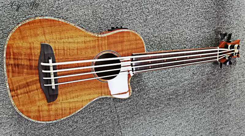 new arrival high quality 30inch full Acacia wood electric UK bass guitar new arrival chinese famous brand oem company electric guitar factory direct beginner guitar high quality