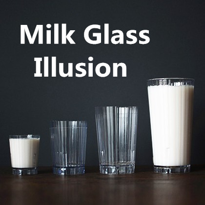 Diminishing Milk glasses one to three glasses milk magic cup magic illusions glass tricks novelties party