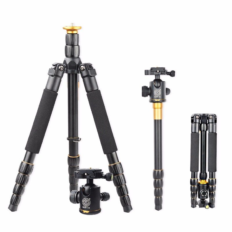 где купить Q666 Professional Tripod With Q-02 360 Degree Swivel Fluid Head For Canon For Pentax For Sony For Olympus Camera,Tripod for DSLR дешево