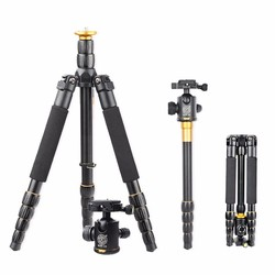 Q666 Professional Tripod With Q-02 360 Degree Swivel Fluid Head For Canon For Pentax For Sony For Olympus Camera,Tripod for DSLR