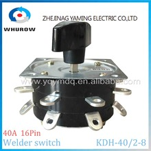цена на Welder switch KDH-40/2-8 contactor 8 position 2 phase 16 pin 40A welding machine switch rotary switch copper pin silver-plate