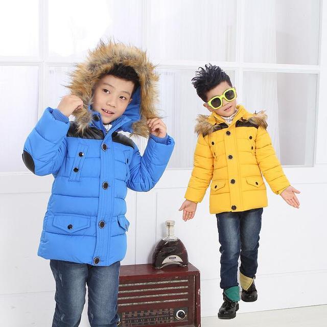 9eedd10dd Children Winter Coats Jacket Baby Boys Warm Outerwear Thickening ...