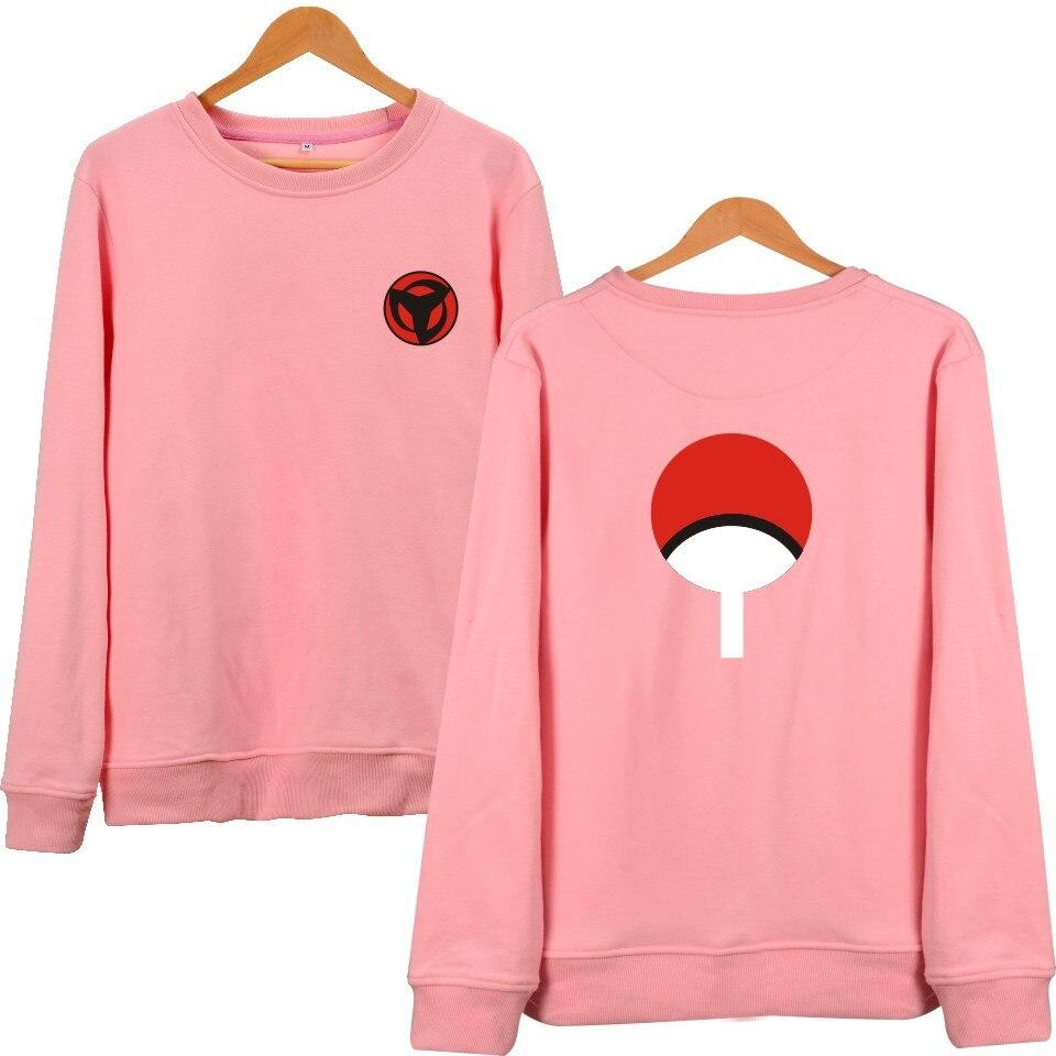 2017 Latest NARUTO Design Unisex Hoodies Men & Women Ninja Capless Sweatshirt O-Neck 4XL Plus Size Pink Hoodie Brand Clothing  gorras planas de fortnite