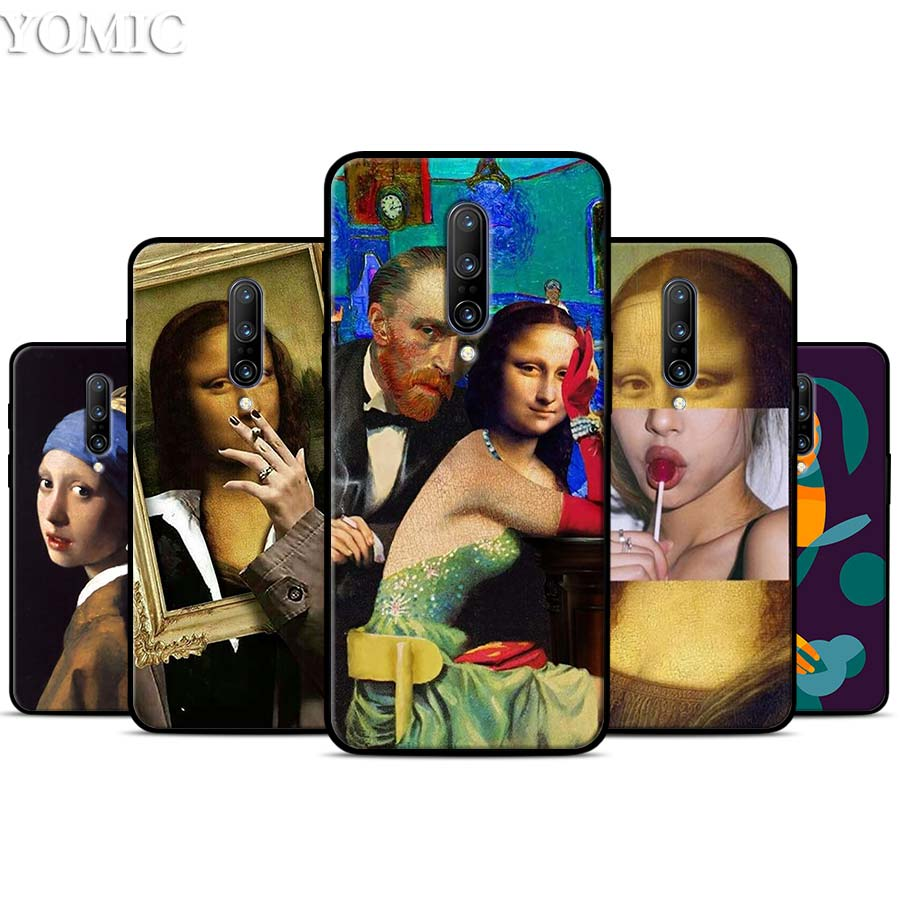 Van Gogh Mona Lisa Girl Silicone Case for font b Oneplus b font font b 7