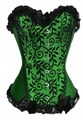 free shipping Clearance Cheapest Lady Boned Bust Basque Gothic Burlesque Overbust Corset Bustier Green PLUS SIZE S-6XL