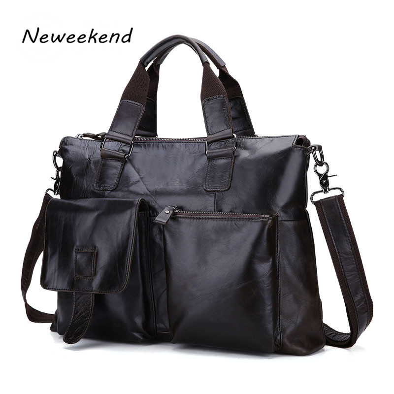 Genuine Leather Men Briefcase Man Bags Business Laptop Tote Bag Men's Crossbody Shoulder Bag Men's Travel Bags B260 mva genuine leather men bag business briefcase messenger handbags men crossbody bags men s travel laptop bag shoulder tote bags