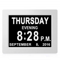 8'' TFT Large LED Screen Digital Electronic Alarm Clock Machine Wall Calendar Time Day Week Year Display 8 Languages Clock DC 5V