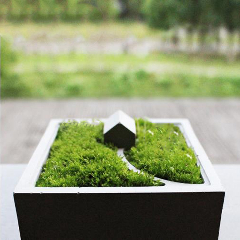 House model cement flower pot silicone mold concrete bryophyte basin mold micro landscape moss bonsai table