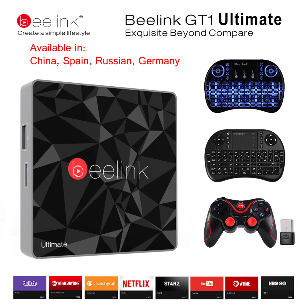 3G 32G beelink GT1 Ultimate TV caja amlogic S912 octa Core Android 7.1 Unidades Top Box CPU DDR4 2.4g + 5.8g dual wifi Media Player X96