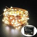 33Ft 100 LED Fio de Cobre luzes cordas Luzes De Fadas Levaram para Festa de Casamento Decoração de Natal Ao Ar Livre Adaptador de Alimentação UL incluído