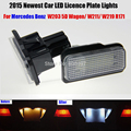 2 x LED Number License Plate Lamps OBC Error Free 18 LED For Mercedes Benz W203 W211 W219