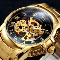 Winner Gold Antique Watch Automatic Skeleton Mechanical Wristwatch Male Wrist Watch Men Man Hour Clock Relogio