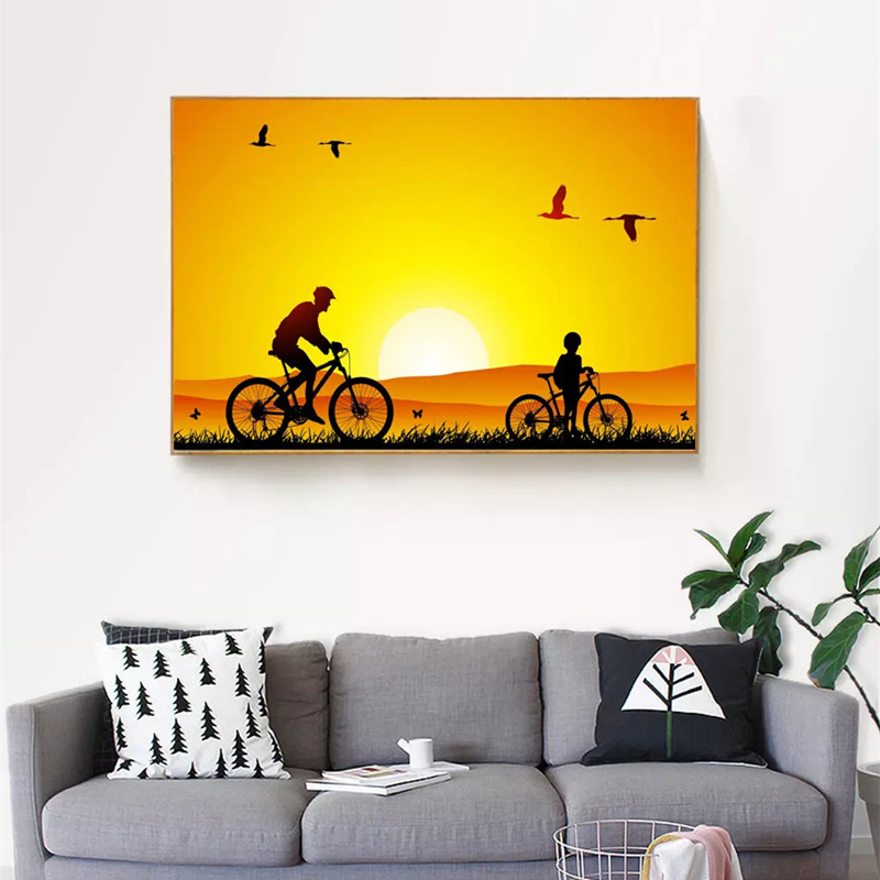 The Glamour Sunset Canvas Painting Unframed Landscape Wall Art ...