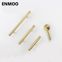 Brass Furniture Cabinet Knobs And Handles Simple Gold Handles Drawer Pulls For Furniture Solid Copper Single