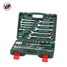 Envío gratis 82 unids conjunto de herramientas de Combinación llave de Trinquete Llave de Torsión para el conjunto de Herramientas de Reparación de automóviles llave del coche 1/2 socket llave