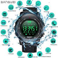 LIGE 2019 Neue Herren Smart Sportuhr Bluetooth Schrittzähler IP68 Wasserdicht Elektronische Digitale Smart Uhr Relogios + Box