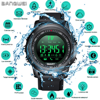LIGE New sport Digital Watch Men Bluetooth Pedometer Stopwatch IP68 waterproof Smart Electronic Watch Smartwatch relogios +Box