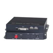 KVM DVI to fiber converter extender 1080p dvi video audio over optic transmission up 20KM
