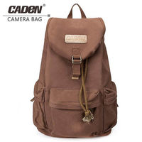 CADeN F5 Digital DSLR Camera Bag Photography Backpack Waterproof Photo lens Canvas cases with rain cover for Canon Nikon Camera