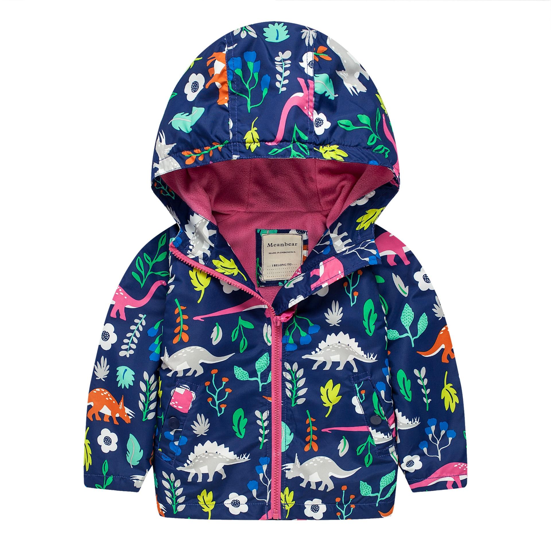Žena dítě plus sametový příkop 2016 venkovní bunda tisk dětské příkopové svrchní oblečení