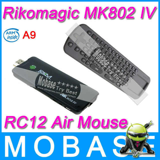 [Measy RC12 Air Mouse] Rikomagic MK802 IV RKM Android TV Box Mini PC Android 4.2 RK3188 Quad Core 1.8GHz 2G/8G WiFi TV Receiver