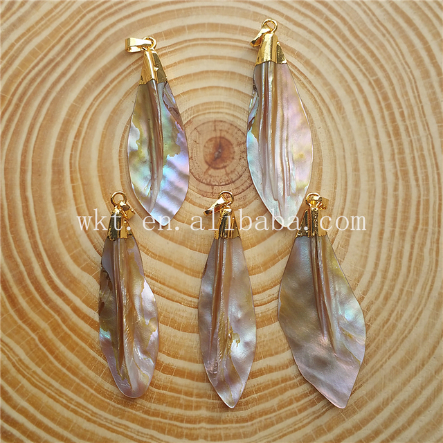 Wt jp016 wholesale fashion dipped natural pearl shell pendant wt jp016 wholesale fashion dipped natural pearl shell pendant fashion leaf shape pearl shell aloadofball Image collections