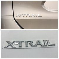 3D Car Rear Emblem Badge Chrome X Trail Letters Silver Sticker For Nissan X Trail Auto