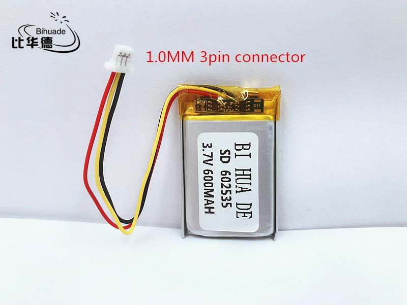 Li-po 3.7 V 600 mAh akumulator litowo polimerowy akumulator litowo-jonowy do słuchawki tachografu MODEL 582535 SP5 mp3 mp4 GPS 602535 062535