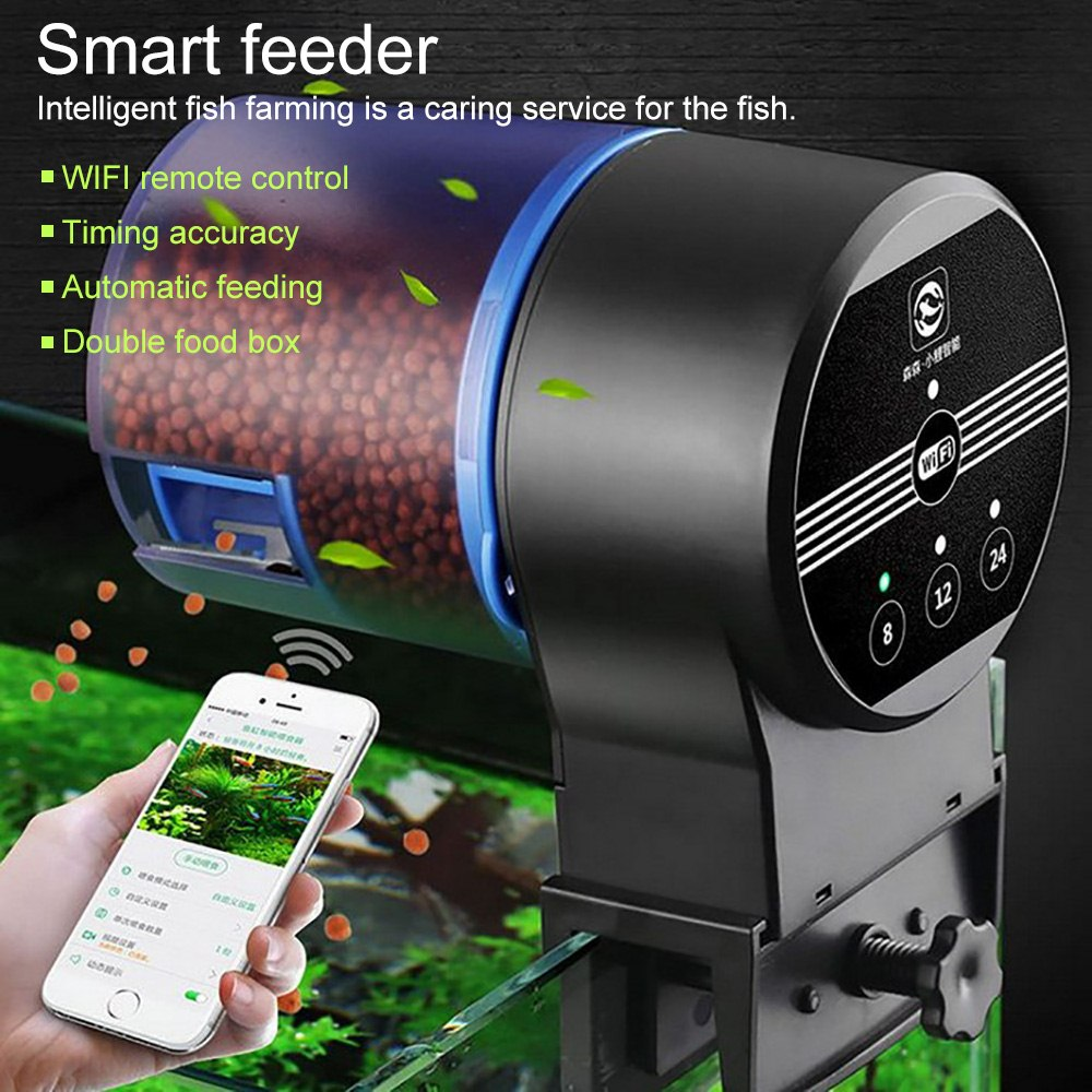 Automatic Fish Feeder WIFI Aquarium Dispenser Smart Food for Tank Electronic Timer 3 Meal