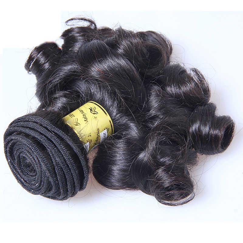 LUFFYHAIR Brasilianische Bouncy Lockiges Menschliches Haar Bundles 3 teile/los Kurze 100% Remy Menschenhaar-verlängerung Spinnt Für Frauen