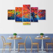 Laeacco Watercolor Trees Posters and Prints Wall Artwork Print On Canvas For Living Room Kids Home Cuadros Decor