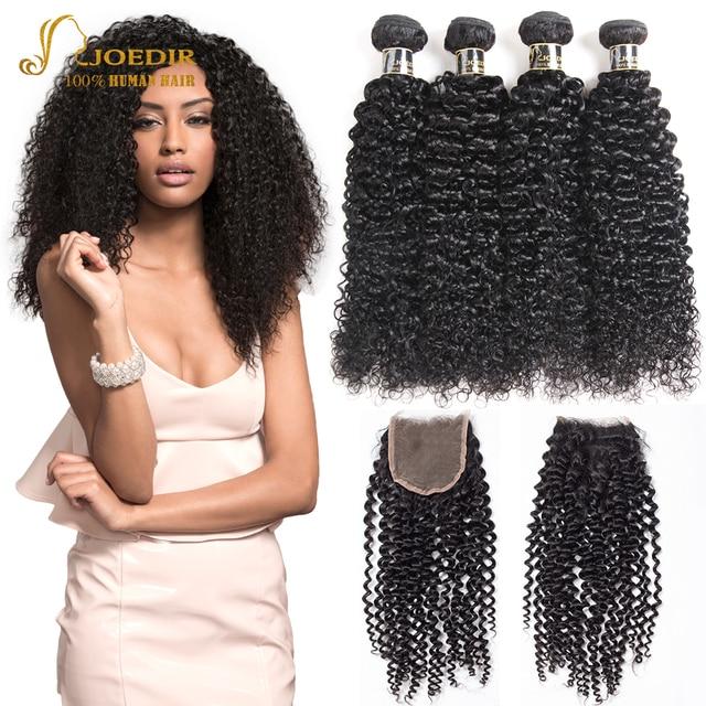 Joedir Brazilian Afro Kinky Curly Weave Human Hair 2 3 4 Bundles