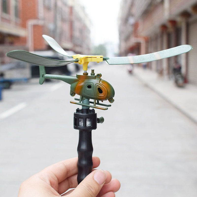 New Arrival Hot Toys Aviation <font><b>Model</b></font> Handle Pull The Plane Outdoor Toys For Children Baby Play RC Helicopter Toys Gift For Kids image