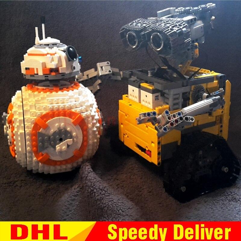 LP 16003 idée Robot mur E LP 05128 le B Double B 8 Robot ensemble blocs de construction briques LPings jouets Clone 21303 75187