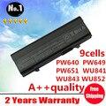 9 células bateria para DELL Latitude E5400 5500 5410 5510 PW651 WU843 WU852 MT187 MT193 KM668