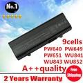 Venta al por mayor nuevos 9 celdas de la batería del ordenador portátil para DELL Latitude E5400 5500 5410 5510 PW651 WU843 WU852 MT187 MT193 KM668 envío gratis