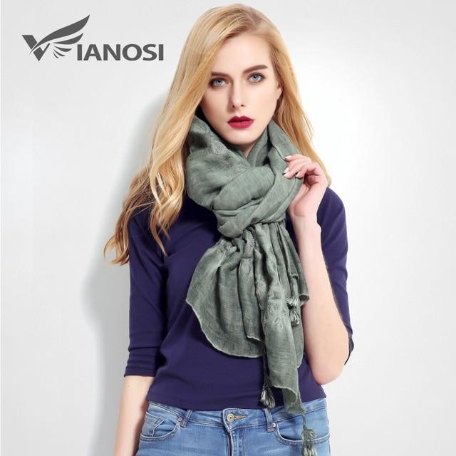VIANOSI Fashion Bandana Luxury Cachecol Cotton Scarf Women Shawl Stitch Scarf Shawl VR013