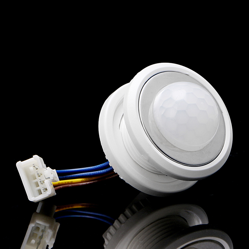 40mm LED PIR Detector Infrared Motion Sensor Switch With Time Delay Adjustable Hyq