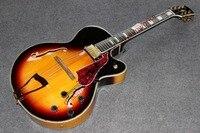 Çin'in oem firehawk g lp l5 özel hollow vücut caz gitar elektrik gitar renk kabuk çevreleyen vücut